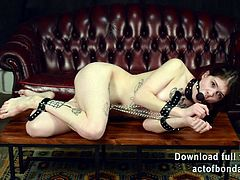Naked girls in chains bondage