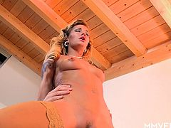 Hot milf in stockings Adele Sunshine is having dirty sex with her client