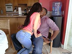 White chick Lana Rhoades is fucked by hot blooded black fellow