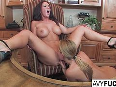 Avy Scott and Jayden Jaymes Office Fuck
