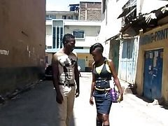 Real African amateur picked up on the streets