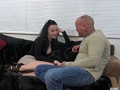 British chick Alessa Savage gets her muff rammed by one bald headed hunk