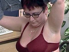 Hungarian Granny loves masturbating herself