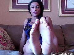 Suck on my sweet little ebony toes