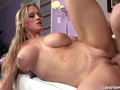 She loves to spend all her free time riding a hard cock, so have fun watching,
