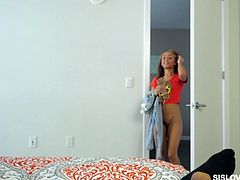 Pretty hot stepsister Holly hooks up with her perverted stepbrother