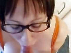 Mom with huge knockers swallows