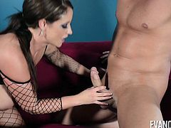 Eva Notty wearing fishnets and having her pussy destroyed good