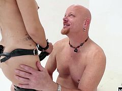 Gabriella Paltrova gives no mercy to her big white boy, ordering him to use his husker harder, deeper, faster or slower, until hes panting for breath and trying desperately not to cum too soon. Mistress Gabriella only allows her corn fed fuckboys to spread seed once shes plowed their asses with her strapon.