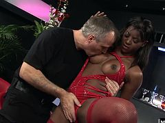 Jasmine Webb is a black stripper who loves working the pole.