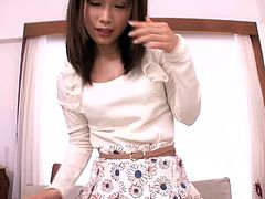 Take a look at this lovely Japanese teen. She really loves to take care of her man. After cooking him a nice meal, she wraps her beautiful lips around his cock and gives him a nice blowjob, until he is ready to cum in her mouth.
