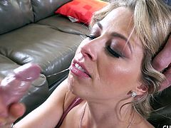 Zoey and her husband are seeing a therapist. The frustrated man just thinks his wife is a slut, but Dr. Pistol can see that she just wants some attention from a hard man. The doctor allows her to demonstrate on him just what she needs, while her husband watches and learns.