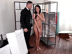 Banging The Box - BDSM Humiliation With Double Strap-On