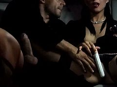 Another lady to help her take care of her male fuck buddys raging boner. They cant even wait to get out of the limo before the action starts, and Aletta Ocean is better at sucking dick than Susie