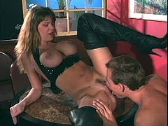Christy Canyon is a hot chick who wants to be seduced by a fellow