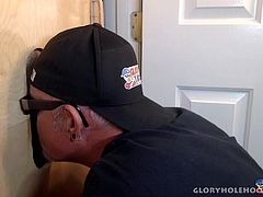 It was this mans first time at my gloryhole. He came here because his friends told him he had to check it out. After I got done with this dick I knew it would not be the last time he paid a visit to the gloryhole and my lips.