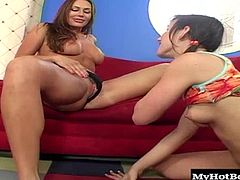 Brunettes Jennifer White and Sky gets aroused and begins pulling off her halter and sucking on her nipples. Next, the teen gets her shaved box fingered and licked for an orgasm, followed by a sixty nine performance and another climax.
