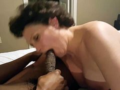 Denise takes on a Monster Black Cock