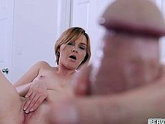 Cougar Marie Mccray plays with stepsons dick