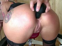 Kayla Green is sandwiched between two studs with big hard cocks that want