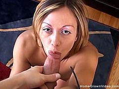 Its obvious her husband wasnt fulfilling her needs so this lonely wife turns to cheating and gets railed by a big eight inch cock