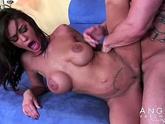 Angelina Valentine spreads her legs for a horny lover