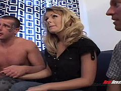 Horny sluts gets a DP in an amazing threesome