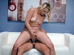 Mia Malkova tries sexual fantasy on the couch