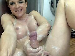 Mycha triple cum  in 6 minutes after hard masturbation