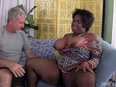 Ebony plumper gets her tits sucked good and kissed on her ass Then gets her pussy fucked fingered and licked in many positions She takes cum in her mouth