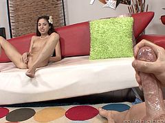 Smoking hot teen Trinity St Clair knows how to use a hard dick