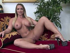 Eva Notty takes care of his shaft