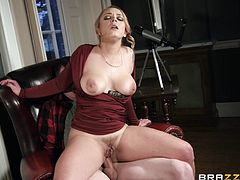 Liza gets excited around big dicks, and what woman wouldn't? A bigger dick means getting your hole filled to greater satisfaction, and right now she can't wait to get her ass stuffed and ride that thick meat until he explodes.