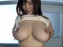 Asian showing big tits