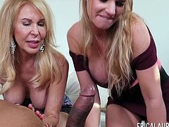 Erica Lauren and Rachael Cavalli share a cock