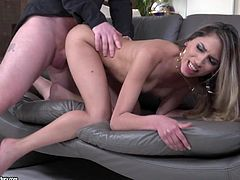 Latina glamour girl rides a dick in reverse cowgirl