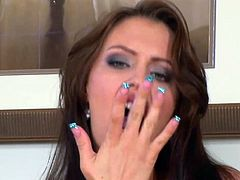 Natural tits Jenna Presley wanking and playing with dildo in her wet pussy to get orgasm