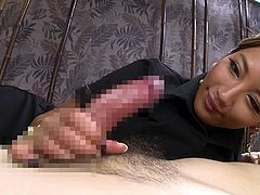 Aika is a porn legend in Japan. Her wet pussy is the best in the business, and she loves to bounce up and down on stiff cock. She wants cum inside of her and she is dripping her pussy juice all over her man's cock. Look at how perfectly she sucks on a huge dick.