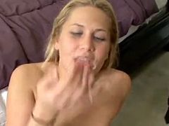 Naughty blond face sitting and fucking