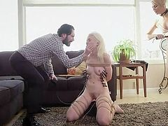 Have you ever dreamed of having a new wife and stepdaughter? Have those dreams involved some kink, like getting rough with the inexperienced one? In this fantasy, the mother watches her daughter take what her new husband dishes out as punishment, mixed with some pleasurable orgasms.