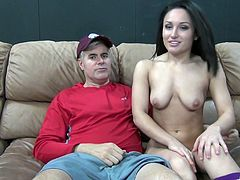 Young Gabriella Paltrova rides a long dick while she moans loudly