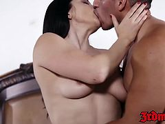 Busty MILF Lea Lexis pussy rammed and fed with warm jizz