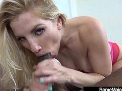 Super fit Ashley Fires Gets Fucked In Mouth By Rome Major!