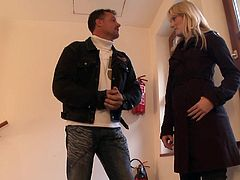 Cute Denisa Heaven likes to play with a big load of fat dick