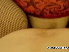 A cute chick fucks her uncle