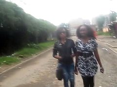 Real, young black lesbians fingering each other's pussy in Africa in this amateur black lesbian sex video.