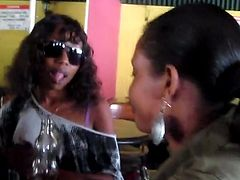 Cute lesbians in African hook up after only being acquainted a few minutes walking outdoors. The amateur black girls suck pussy and tits like true lovers.
