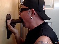 Apparently this newly married man has a wife that wont, or cant, give head. So, he decided to give the gloryhole a try. I dont bother asking for details. If the man is at the gloryhole I know hes not getting what he wants at home.