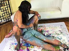 Kelly Divine and Alison Tyler body painting