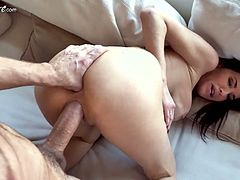 Big tittied whore wife Veronica Avluv seduces a friend of her husband
